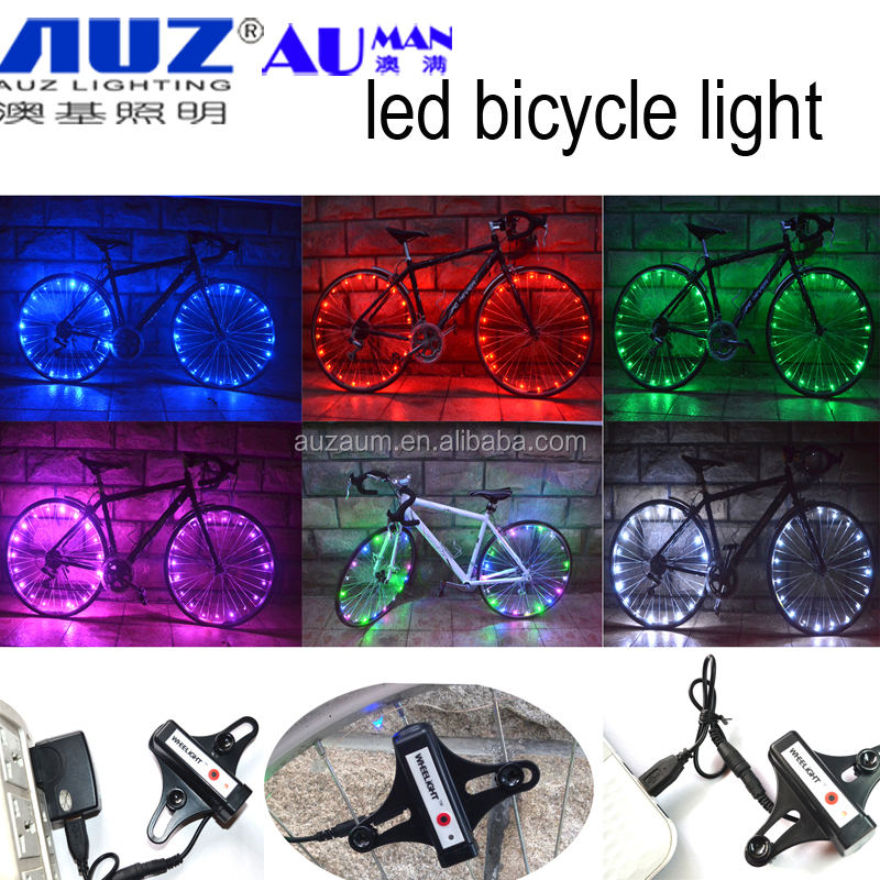 rechargeable bicycle led wheel light,led bicycle wheel light , led bicycle wheel spoke string light rechargeable bike light