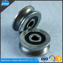 High Precision Metal Guide Track 608 Bearings Rollers Factory Price Deep V Groove Pulley Rail Ball Bearing