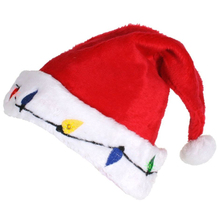 Children adult costume red christmas santa hat plush and stuffed toy christmas elf hat decoration tree plush toy