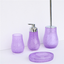 Bubble floating resin bathroom sets 4pcs resin bathroom accessories
