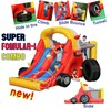 Happy Hop Inflatable Bouncer-9026 Racing Car Bouncer Super Fomular-1 Combo