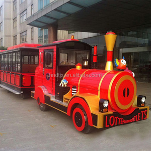 Hot sell kids amusement rides used electric trackless train for sale