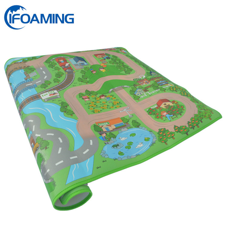 Colorful printed play mat for babies soft educational mat for kids