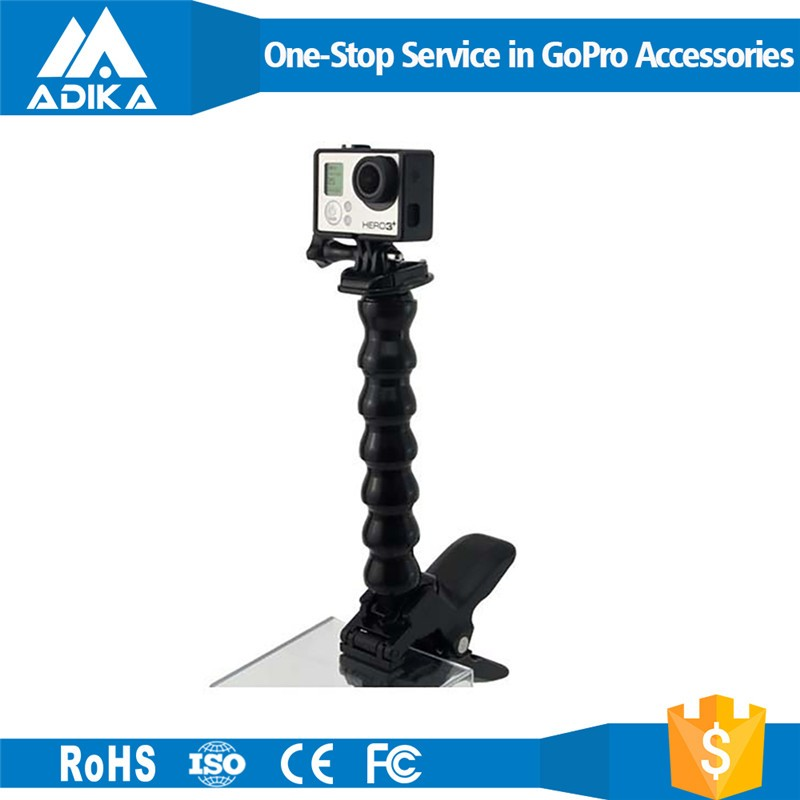 Hot selling GoPros accessories, Jaws Flex Clamp Mount for Goprso Hero4 3+/3/2/1 GP154