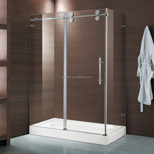 E03C Hot Selling Corner Sliding Door Shower Cubicle With SUS304 Top Rail,Rollers & Wall Brackets