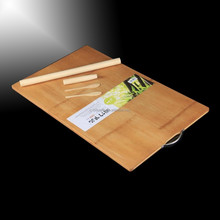 2016 new design bamboo cutting board with hole to put Plate Smart Kitchen Bamboo chopping blocks cutting board wholesale