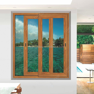 doors and windows -aluminium frame sliding glass window from China