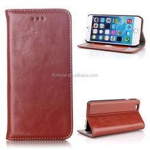 FL2507 Crazy Horse Texture with Card Slot Genuine Flip Leather Case for iPhone 6 4.7 inch