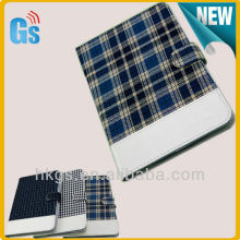 New Arrival Plaid Cloth One Direction Cover for Ipad 5 Leather Case for Ipad Air