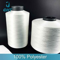 Low price sewing 150 denier polyester filament viscose rayon fiber yarn