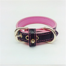 Leather girls stylish pet collar made in taiwan products
