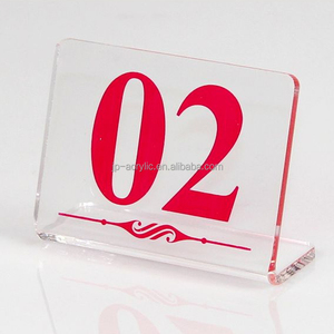 Customized Acrylic Photo Frame Card Display Holder Desk Label Display Stand Acrylic Table Tent