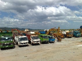Mining and Construction Heavy Equipment and Trucks Rental service
