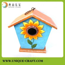 Crafts bird house paint in colorful color for garden decoration