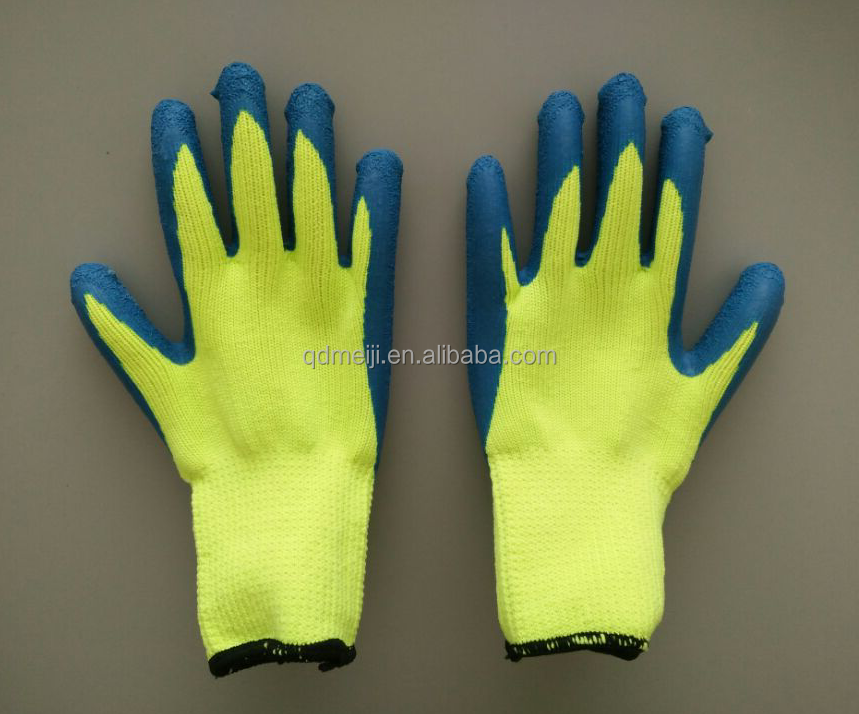 New products fashion anti cold keep warm palm rubber latex crinkle custom logo print garden hand safety winter gloves