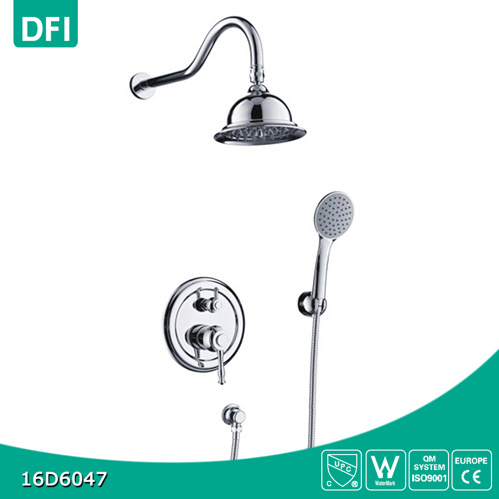 Classical shower head wall mounted shower system