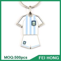 Wholesale bulk blank t shirt / jersey two sided printed metal key holder