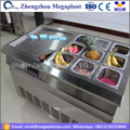 500mm pan thailand style roll fry ice cream machine with flat table price