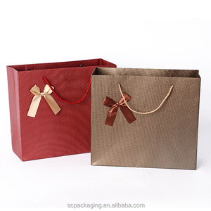 brown/ black kraft paper bag & box