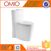 Bathroom Manufacter Siphonic one piece S-Trap WC ceramic toilet