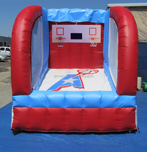 Interesting inflatable basketball double hoop sport game equipment for kids and adult
