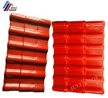 Lightweight Low Cost plastic PVC Roof Covering / ASA Synthetic Resin Roof Tile