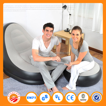 2016 new arrival comfortable pvc air sofa inflatable sofa and foot rest
