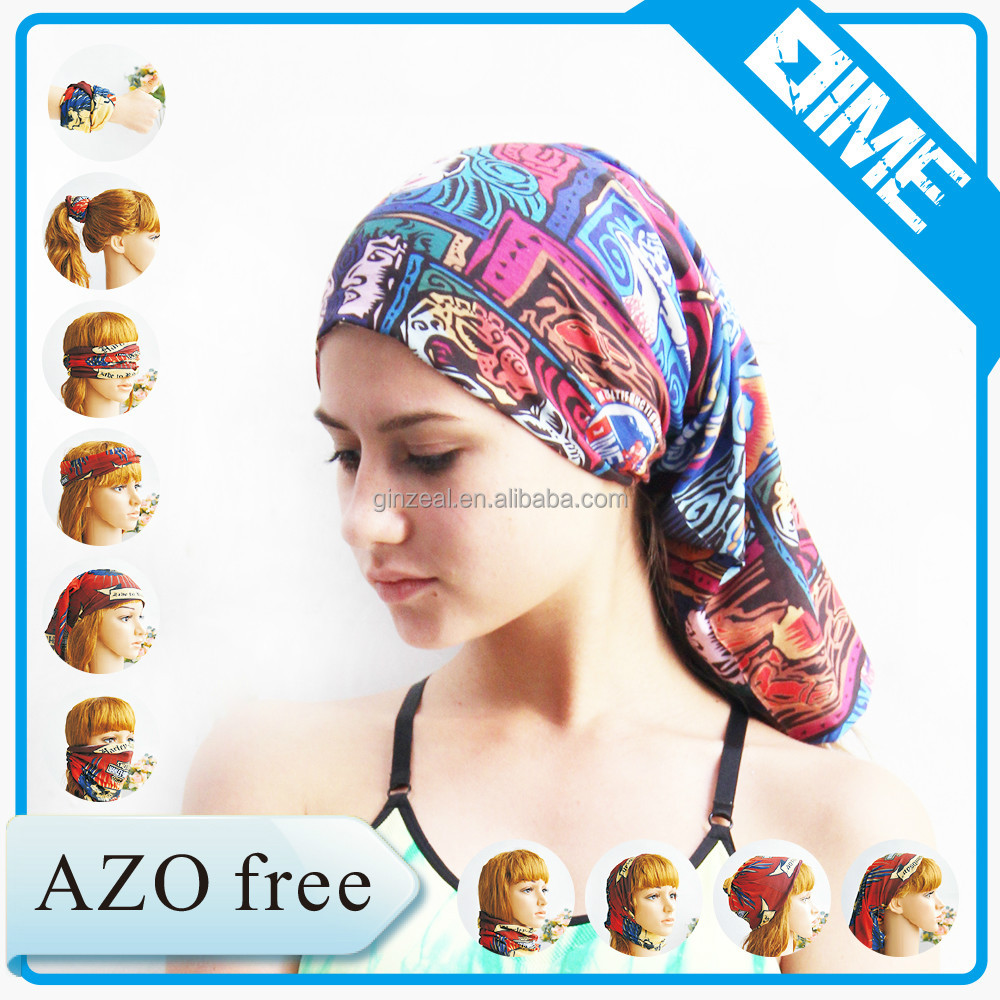 Cheap Custom Bandana Printing Multifunctional Muslim Bandana Headwear