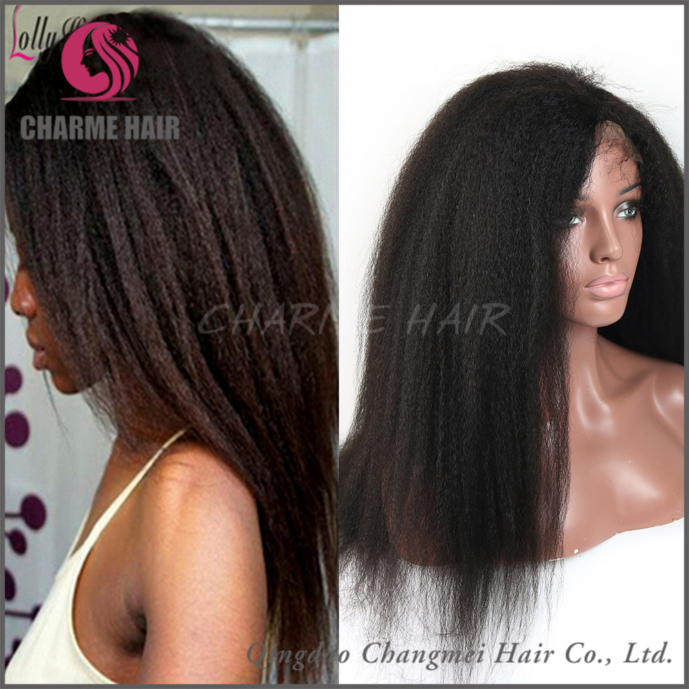 Wholesale Malaysian Human Hair Full lace Kinky Straight Hair Wigs