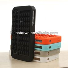 3d abacus Silicon mobile phone bags & cases for iphone 4