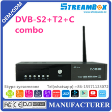 Original Streambox A8 Full HD DVB-S2+S2 FTA Satellite Receiver Antenna With Twin Tuner The Receptor For South America