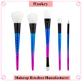 2017 factory directly provide wholesale price high quality professional 5pcs foundation makeup brush set