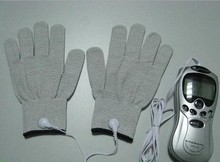 Conductive pulse massager gloves fit for digital therapy massagers