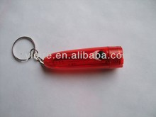 plastic led flashlight keychain