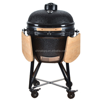 Easy Clean Outdoor Garden Kitchen Charcoal Clay BBQ Grill