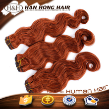 Reliable quality virgin human hair extension,body wave extension human hair,orange hair extension