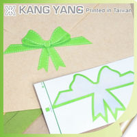Cheap Art Paper Die Cut Envelope Sticker Seal