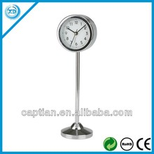 metal spring table clock with station
