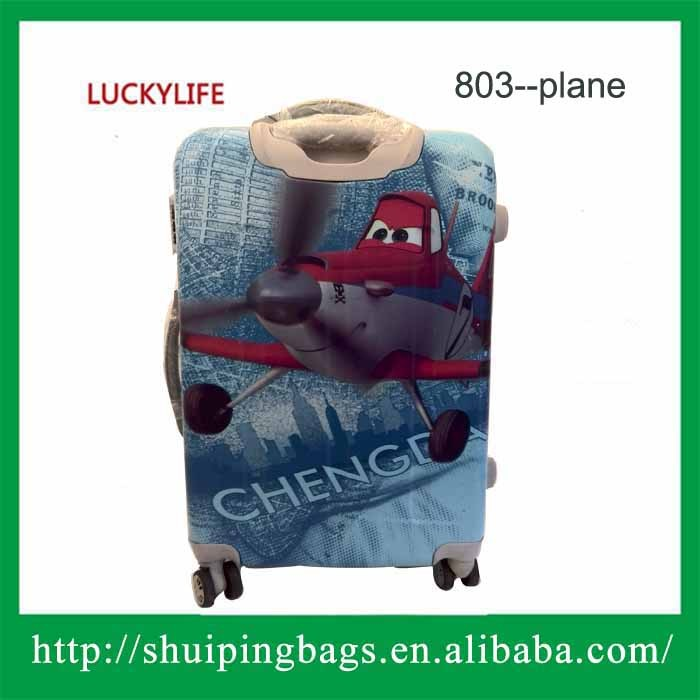 2 pcs set Spinner Wheel PC Rolling Luggage cabin size customized pc plane printing hard luggage