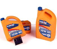 Custom PVC Oil drum shape usb flash drive for customers gift