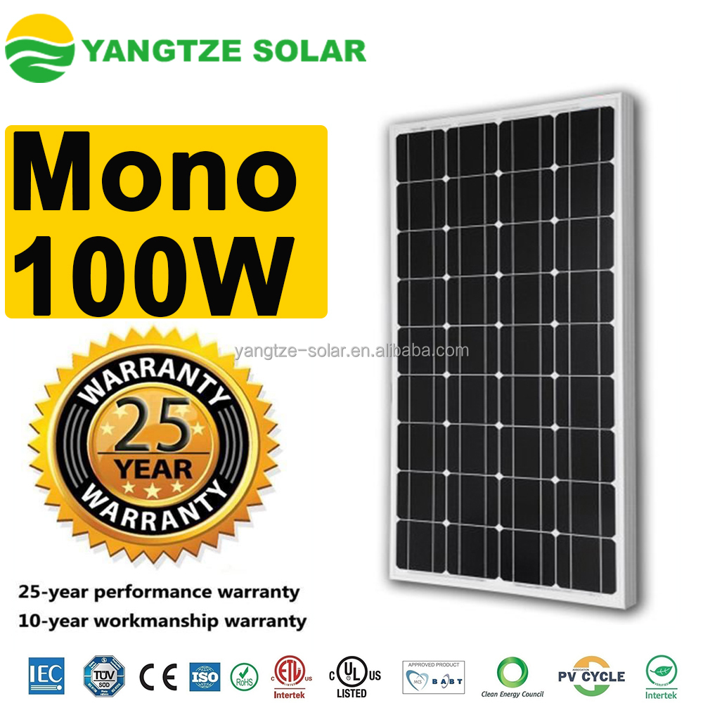 First Grade best price power 100w solar panel