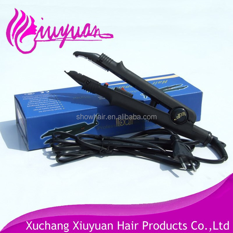 heated hair extension iron
