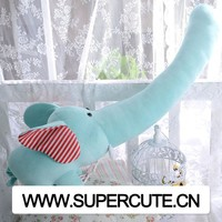 2015 newest pink color stuffed plush elephant toy for toy shop