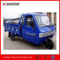 closed cabin big wheeler tricycle with cargo box for adluts