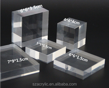 acrylic clear block display tray for jewelry