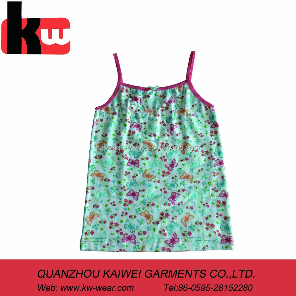 loverly tank top for girl,with print and can do small size ,wholesale style