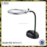 MG15119-A, High quality 2.5X table lamp electronic magnifier.