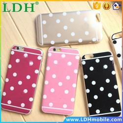 NEW Hot Sale Candy Color Mint Dot Shining Soft TPU Gel Fashion Phone Back shell Case Cover For iphone 5 5s / 6 6s / 6 Plus 5.5