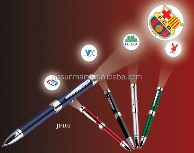 Metal ball pen with LED projection pen