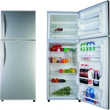 370L Stainless Steel 2 Door Fridge Electric Control Glass Drawers Double Door Old Refrigerator Brands